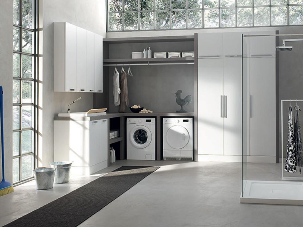 Arredo bagno lavanderia moderna ispirazione design casa for Bagno della casa moderna