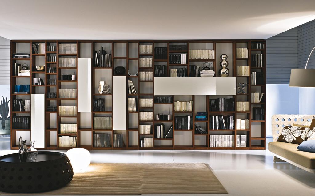 Soggiorni classici varese arredamenti caon for Libreria salotto